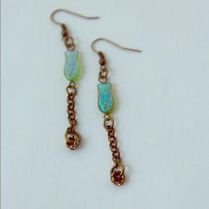 Jewelry - Opulent Catch Bronze Earrings